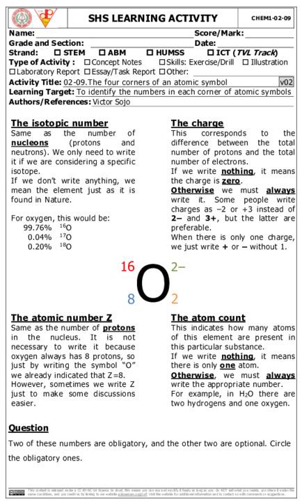 CHEM1_02_09: The four corners of an atomic symbol | CVIF-DLP